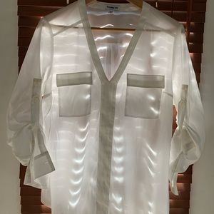Large Express White Pullover Blouse